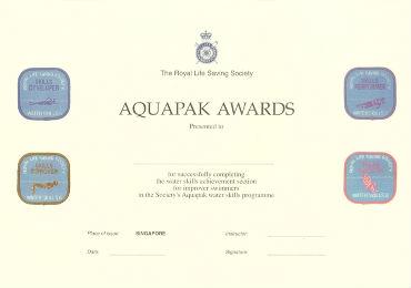 aquapak 2 award certificate
