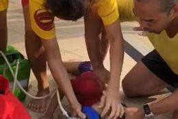 lifeguard rescue in swimming pool